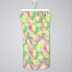 Lilly Pulitzer Franco Tie Back Strapless Dress